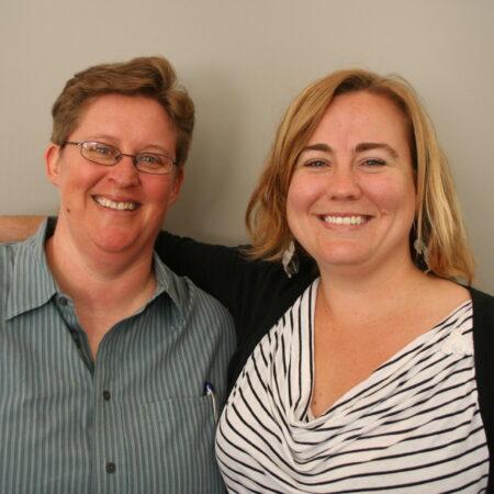 Barbara Voss and Liz Clevenger
