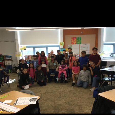 Mrs. Henry's 4th Grade Class Interviewing a Veteran November 29, 2017