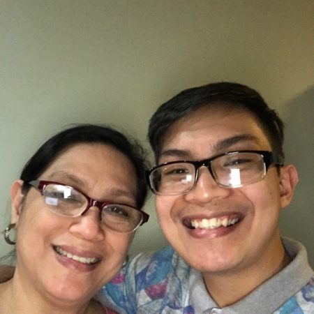 Kirk Alave asks his mom, Genevieve Alave, about her life as a young mother in the Philippines.