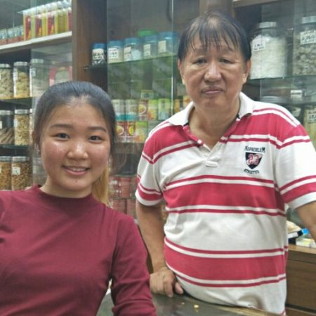 interview Uncle Liew in Petaling Street