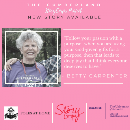 Long time community member Betty Carpenter shares why she loves working with young people, and what brought her to the CAC.