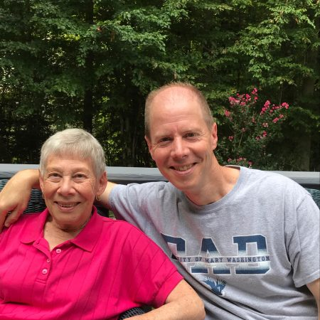 Bonnie and Bob Parker at a Family Weekend at University of Mary Washington