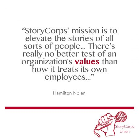 """StoryCorps' mission is to elevate the stories of all sorts of people..."""