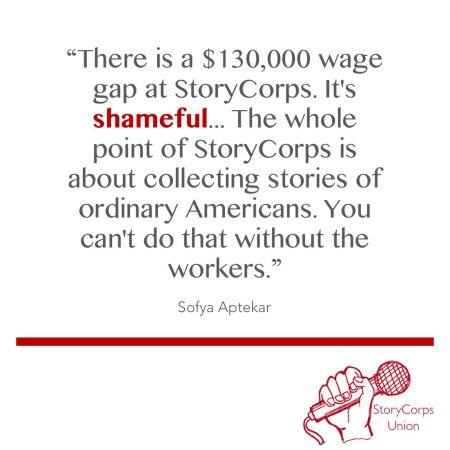 """There is a $130,000 wage gap at StoryCorps. It's shameful."""
