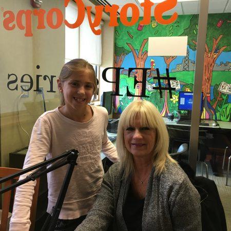 Denise Wojciechowski and Olivia Mitchell with Julie Keaty