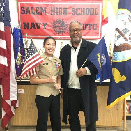 Salem High School NJROTC VETS TO CADETS - Petty Officer 1st Class James Clinton
