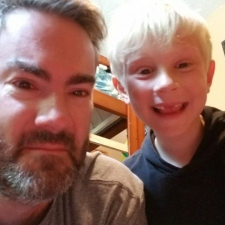 Father's Day 2019 David (41) and Owen Ellis (6)