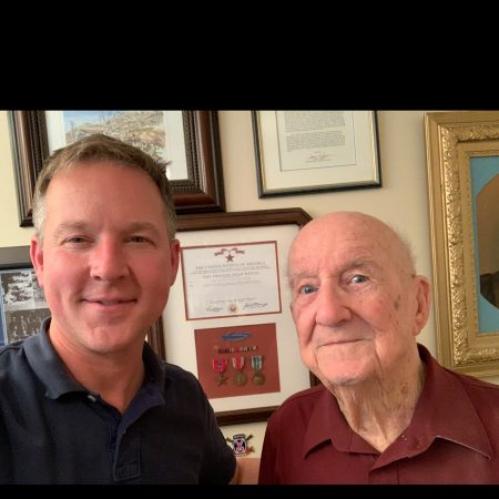 A grandson talks to his grandfather about his service in Italy during WW2