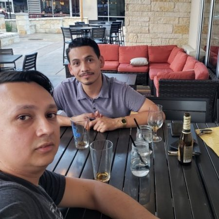 Hanging out with my brother