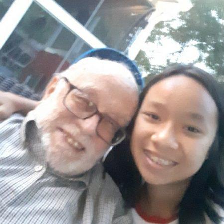 With a holocaust survivor