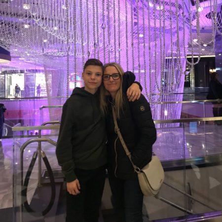 Josh and Mum!