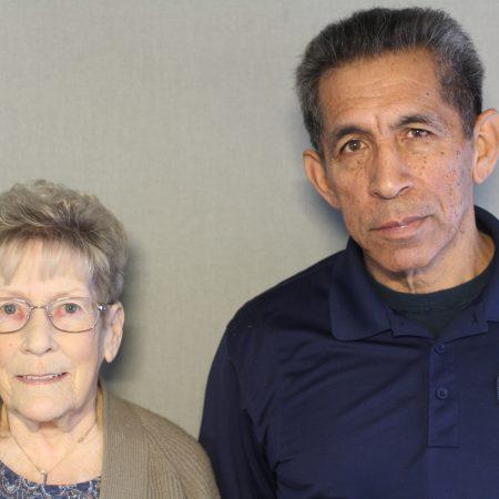 Thomas Martinez and Beverlee Newcomb