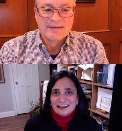 Michael DiMonte and Rekha Shukla