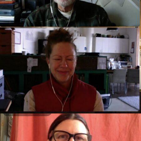 Skip Schiel, Josephine Schiele, and Katy Downey