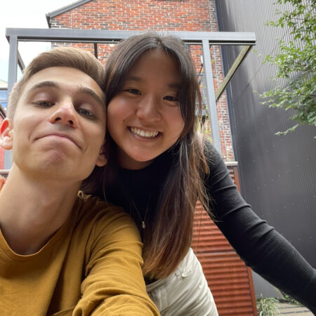 Sam Bisno and Sabrina Kim